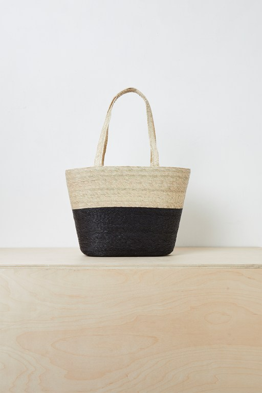 Complete the Look Summer Block Colour Straw Tote