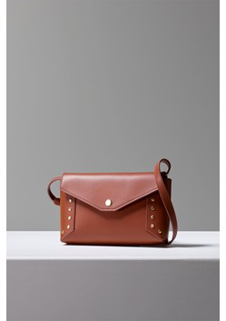 Bruna Recycled Leather Studded Crossbody Bag