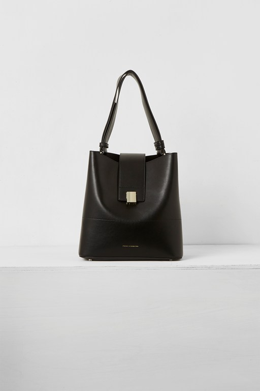 Complete the Look Chiara Recycled Leather Clasp Bucket Bag