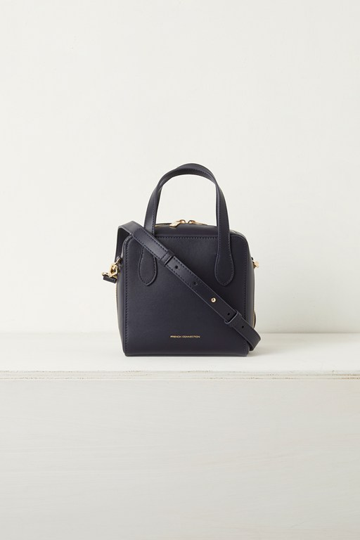 lula mini square recycled leather crossbody bag
