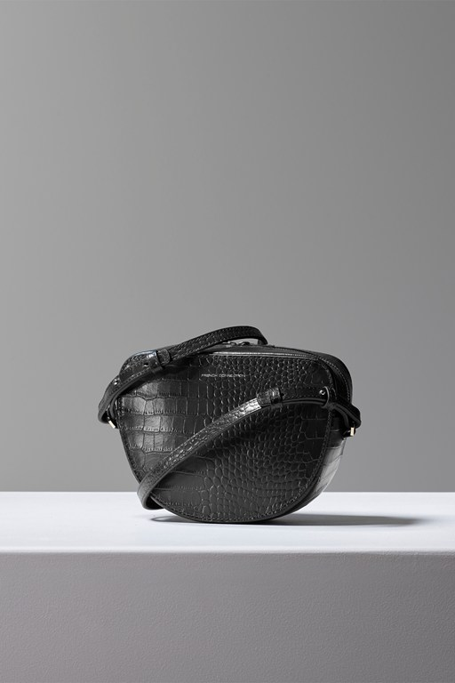 Complete the Look Tallin Recycled Leather Croc Crossbody Bag