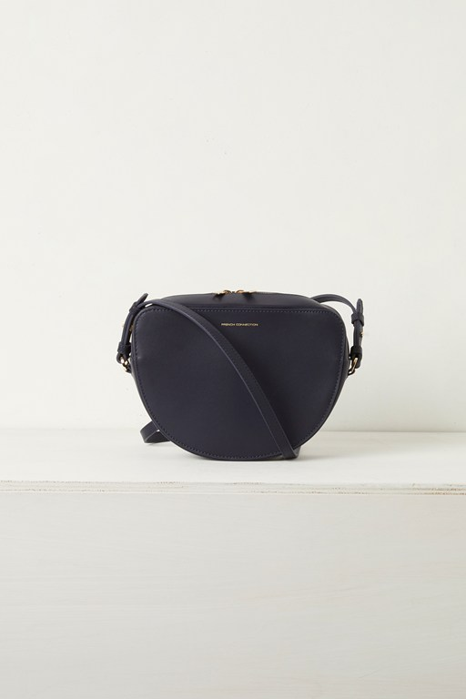 talin half moon recycled leather crossbody bag