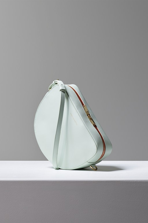 Complete the Look Talin Half Moon Recycled Leather Crossbody Bag