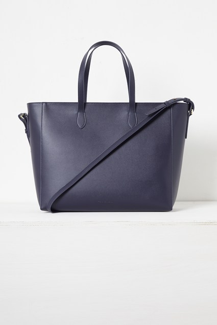 Mia Recycled Leather Zip Tote Bag