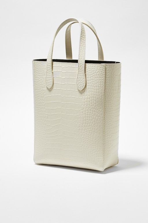 Complete the Look Moa Croc Recycled Leather Tote