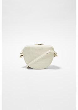 Tallin Recycled Leather Half Moon Crossbody