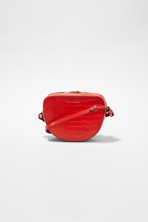 Complete the Look Tallin Recycled Leather Half Moon Crossbody