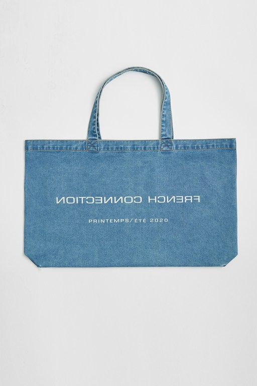 Complete the Look French Connection Reverse Denim Shopper