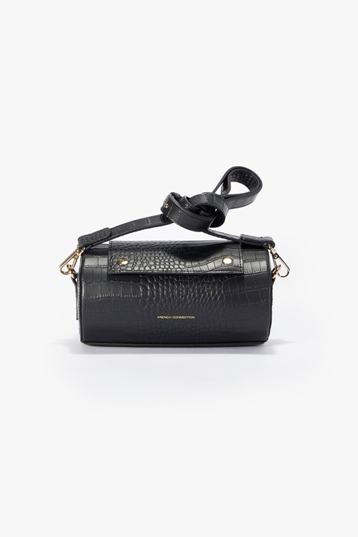 Complete the Look Rolo Croc Barrel Bag