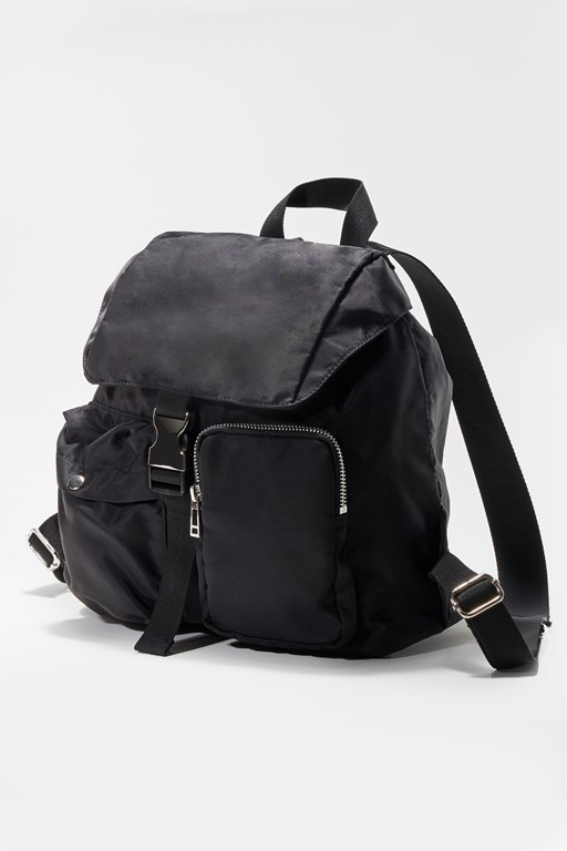 mini drawstring nylon backpack