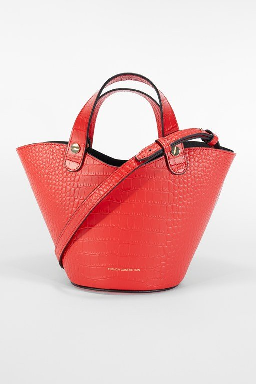 Complete the Look Croc Recycled Leather Mini Market Tote Bag