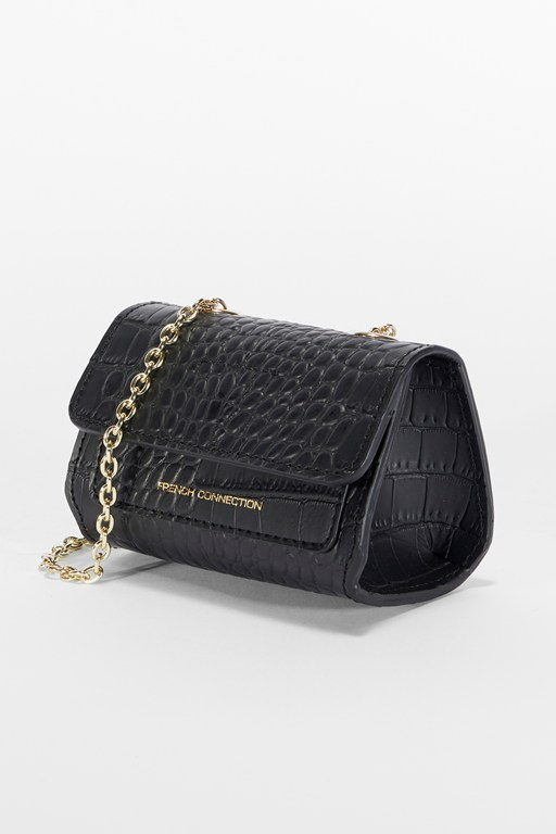 croc ozzy recycled mini shoulder bag