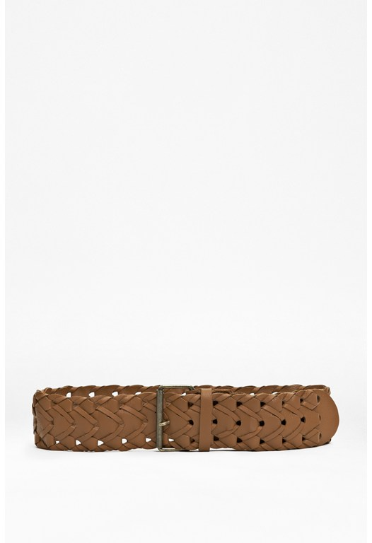 Entangled Woven Leather Belt