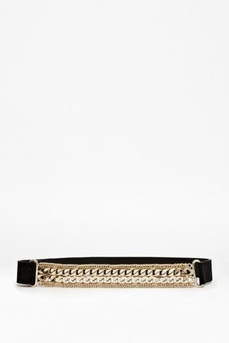 Leather Double Chain Belt