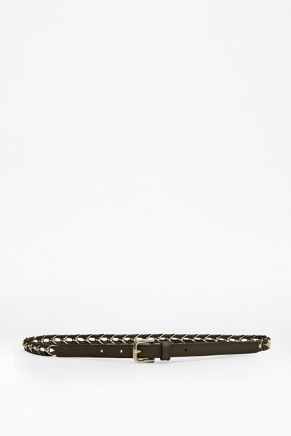 Gia Leather Chain Belt