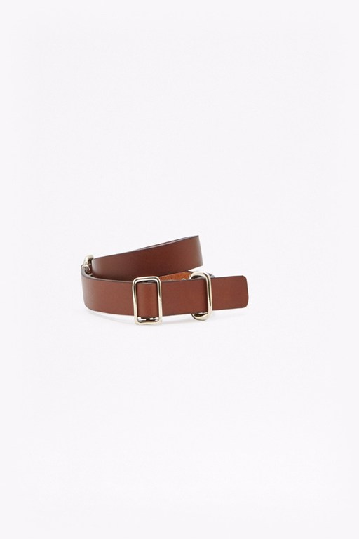 skinny harness leather waist belt