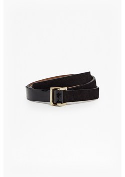 Suede Patent Mix Leather Waist Belt