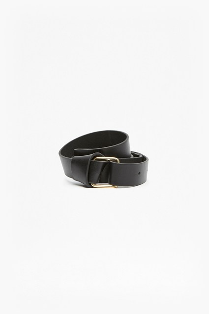Leather Loop Belt With Buckle