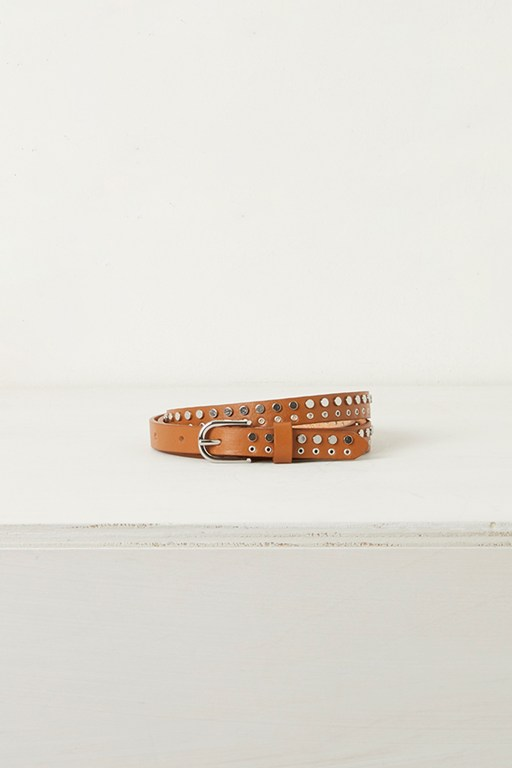 carlotta stud skinny leather belt