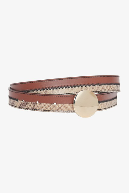 Python Mix Leather Belt