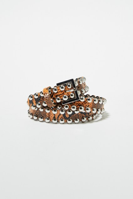Oz Snake Studded Leather Belt