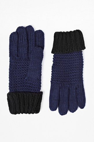 Double Block Knitted Gloves