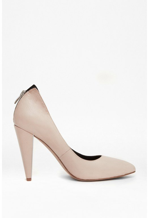 Myka Zipped Leather Court Heels