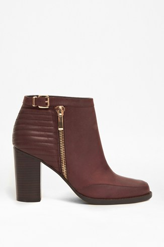 Odea Quilted Leather Ankle Boots