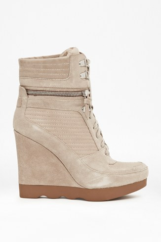 Maata Leather Wedge Trainers