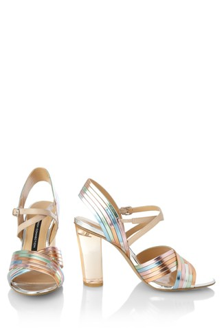 Peggie Mirrored Contrast Sandals