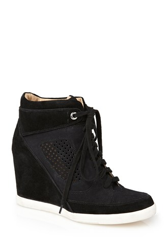 Marla Athletic Leather Wedges