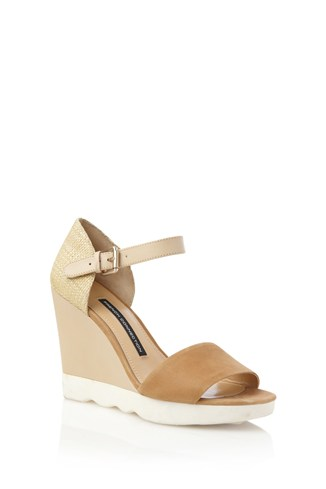 Jolie Straw Detail Wedges