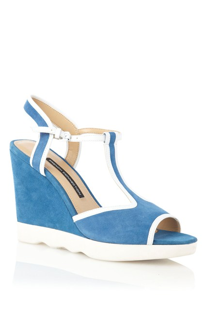 Jackie Suede Wedges