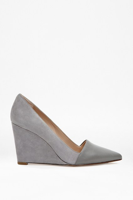 Bree Leather& Suede Wedges