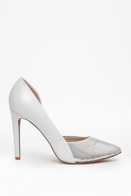 Mabel Mesh Leather Heels