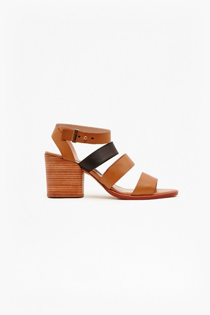 Ciara Leather Mid Heel Sandals