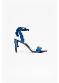 Liesel Lace Up Heeled Suede Sandals