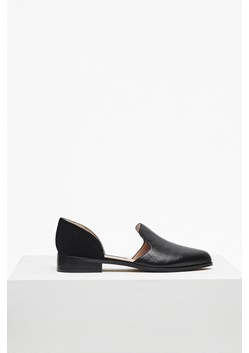 Lottie Cut Out Leather Loafers