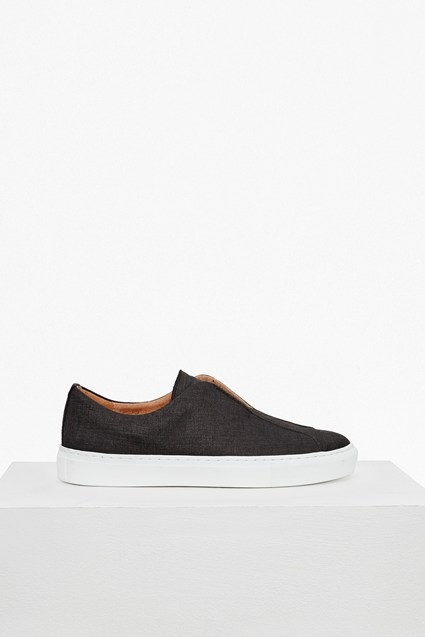 Denim Canvas Non Eyelet Trainers