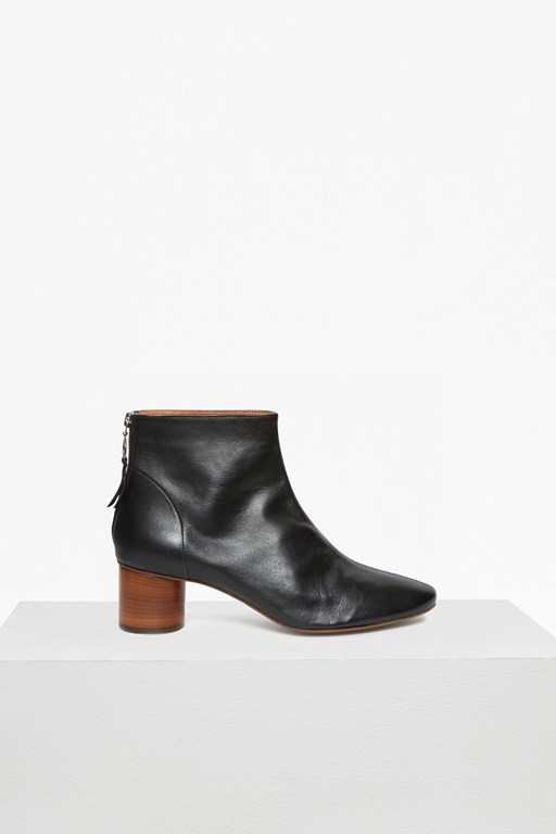 hannah cylinder heeled leather boots
