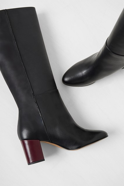 classic style of 2019 variety design best loved Renzo Leather Knee High Boots