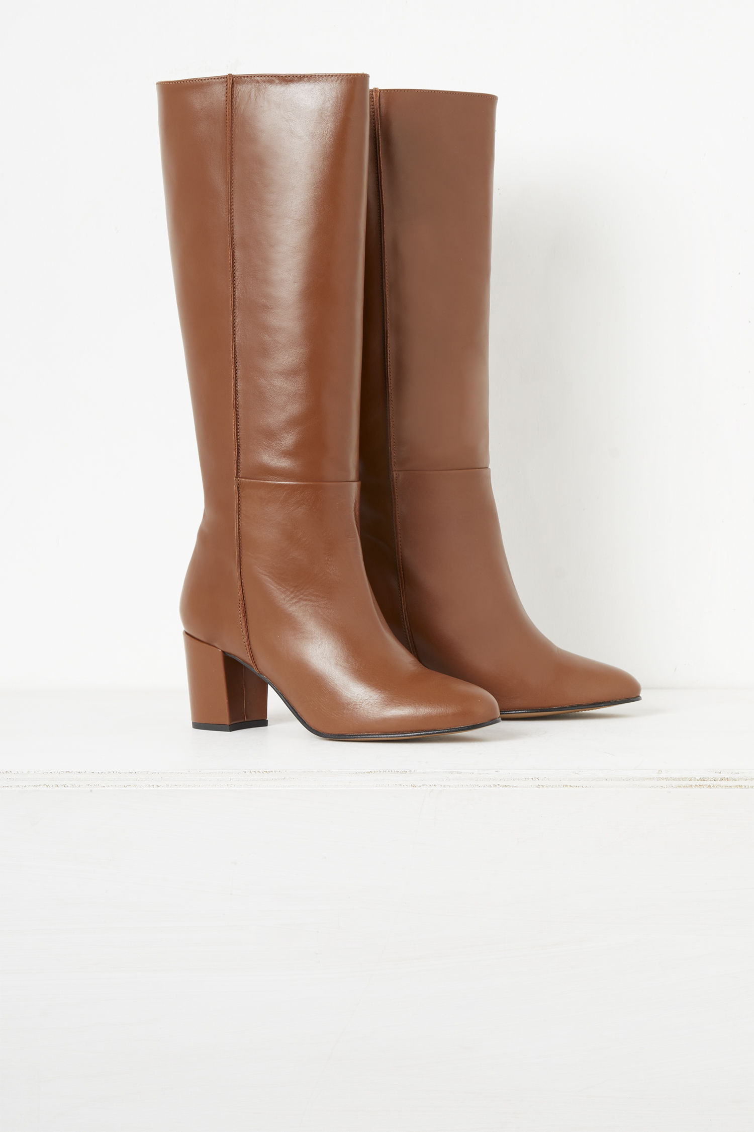 Renzo Leather Knee High Boots