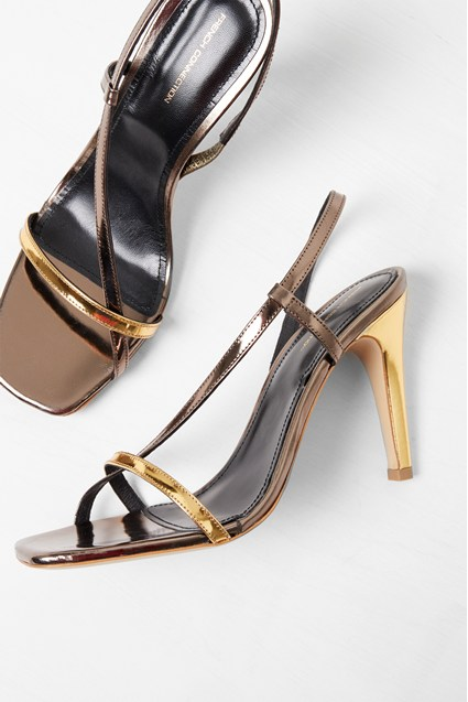 Veroni Metallic Wrap Sandals