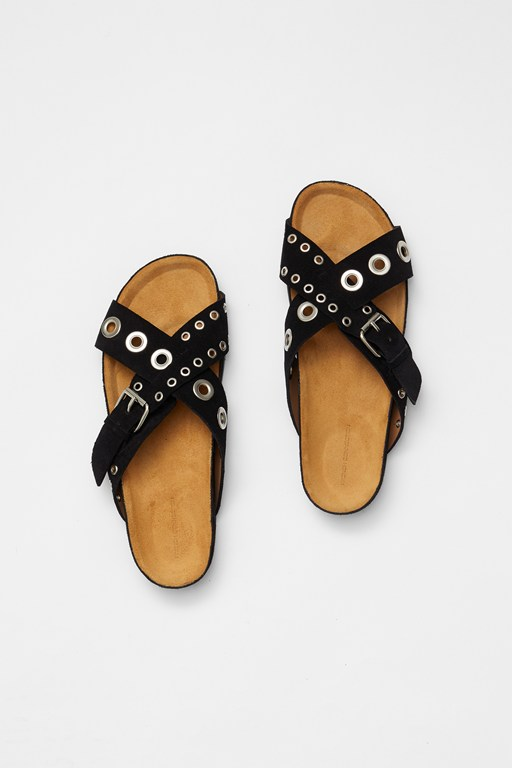 Complete the Look Suede Eyelet Sandals