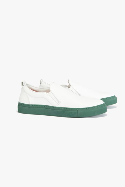 Leather Slip On Sneaker