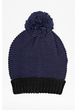 Double Block Knitted Beanie Hat
