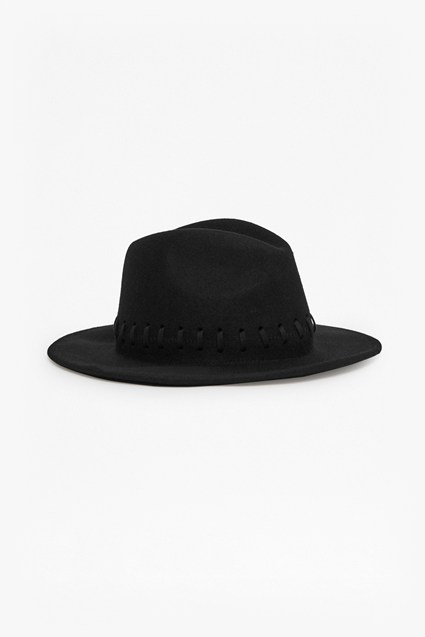 Izza Hat Whipstitch Wool Felt Hat