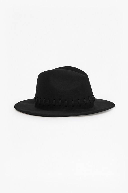 Complete the Look Izza Hat Whipstitch Wool Felt Hat