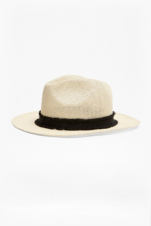 Complete the Look Riley Raffia Trilby Hat