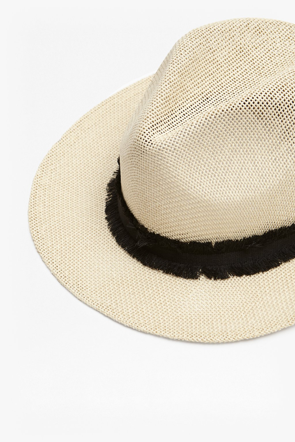 48514377dcb4f Connection black French With Band Trilby Cream Straw Beach Hat Detail wqzvvT